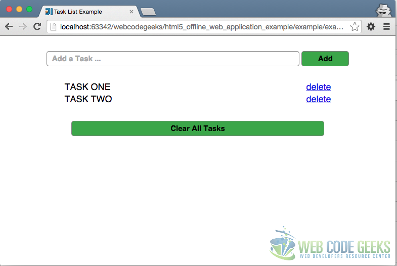 HTML5 Offline Web Application Example OnLine