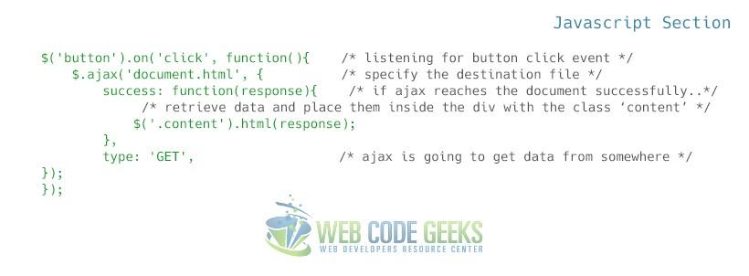 Jquery Ajax Example Web Code Geeks 2018