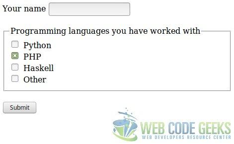 PHP Checkbox Example | Web Code Geeks - 2017