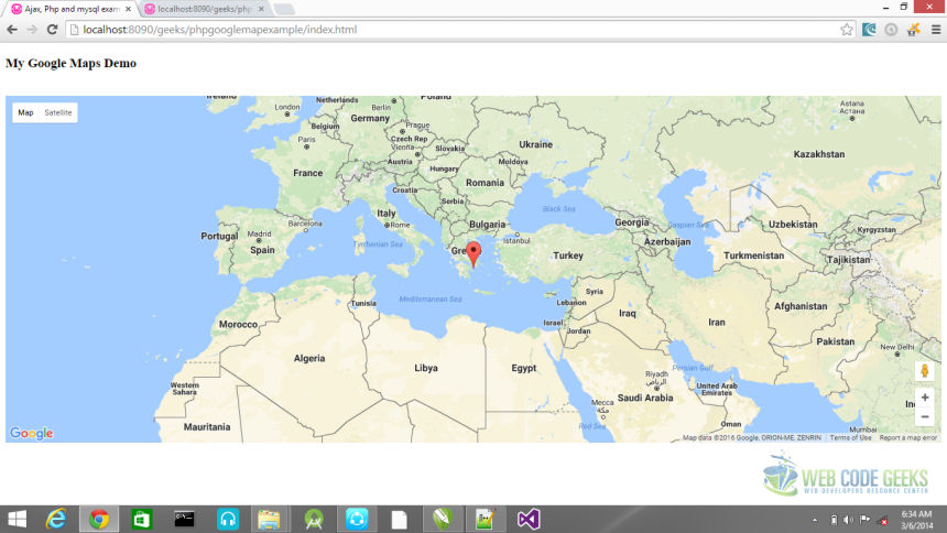 PHP Google Maps Example | Web Code Geeks - 2019