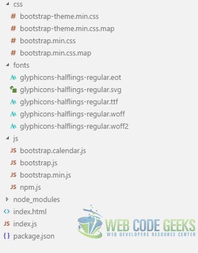 Bootstrap Calendar Example | Web Code Geeks - 2019