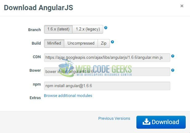 Fig. 1: Download AngularJS Library