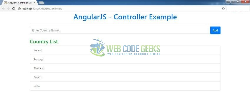 Angularjs Controllers Example Web Code Geeks 2018
