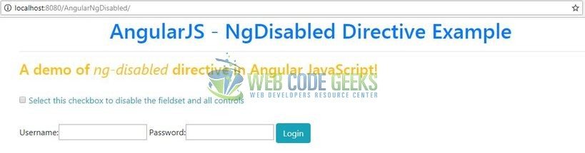AngularJS ng-disabled Directive - Ng-Disabled Angular Directive