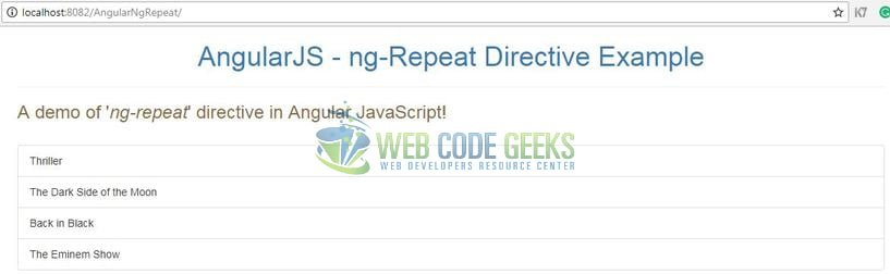 AngularJS ng-repeat counter - Ng-repeat Angular Directive