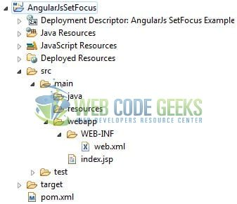 AngularJS Set Focus on Input Field - Application Project Structure