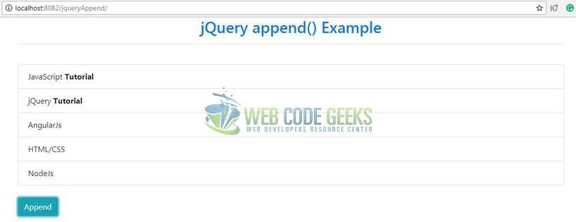 Jquery. Append() vs jquery. Html().