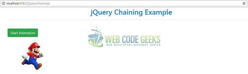 jQuery Chaining - Index page