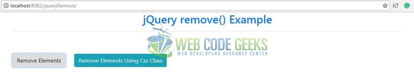 jQuery remove() - Remove all elements