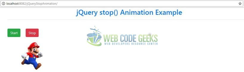 jQuery Stop Animations - Index page