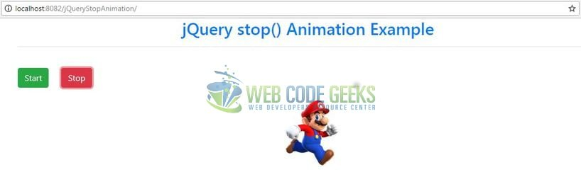 jQuery Stop Animations - jQuery 'stop()' method