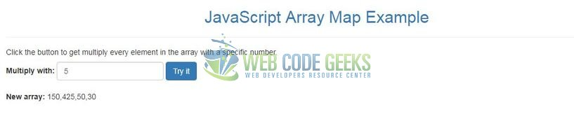 JavaScript Array map() - Output