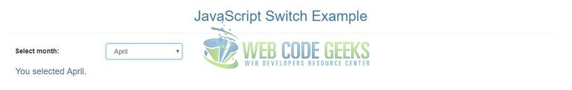 JavaScript switch - Output
