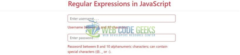 JavaScript RegEx - Regular Expression validations