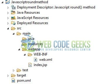 JavaScript round() - Project Structure
