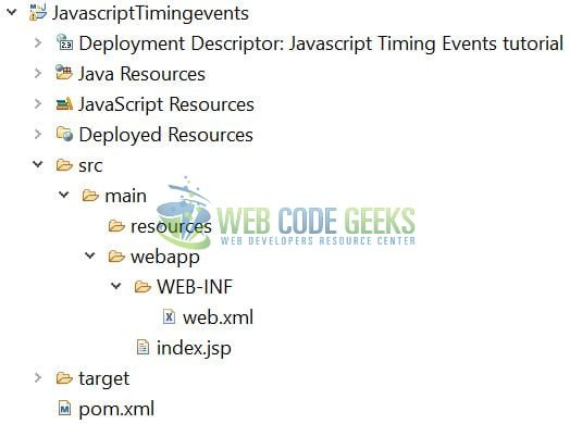 JavaScript Timing Events - Application Project Structure